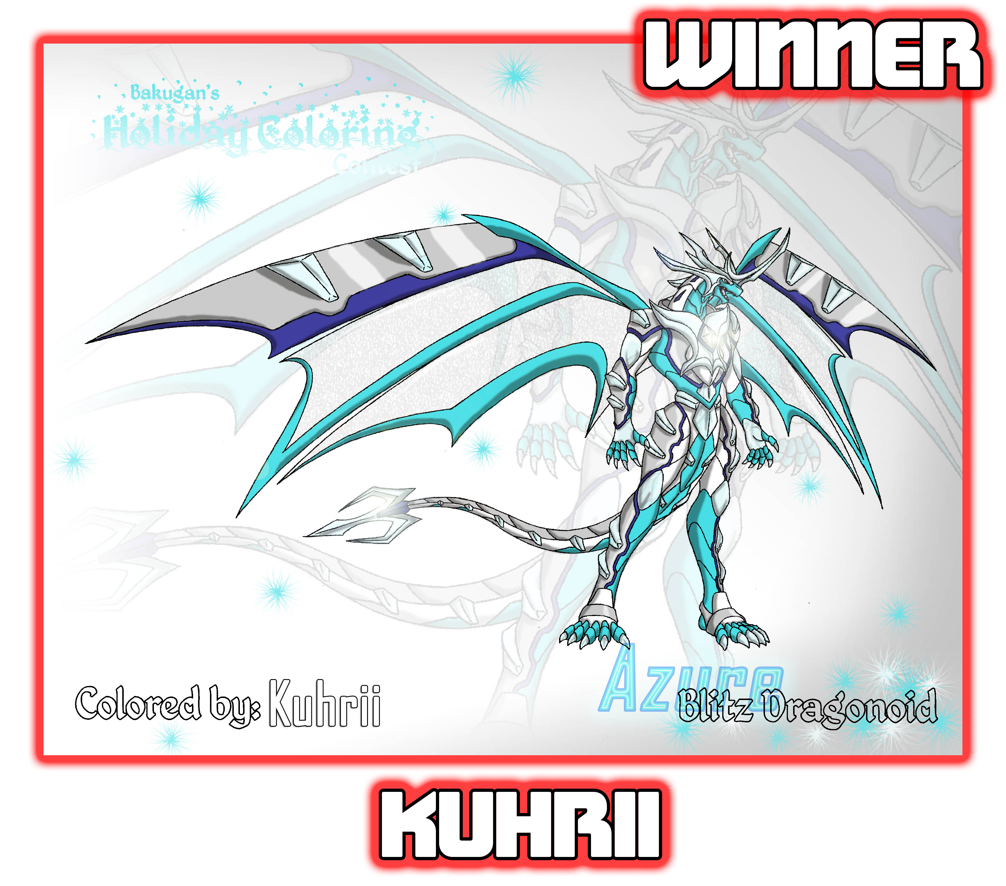 KuhriiHoliday Winners Of the Bakugan Holiday Coloring Contest!
